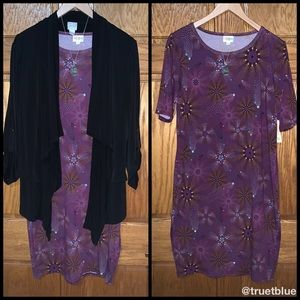🆕 Lularoe Plum Julia Midi Dress Sz XL